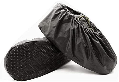 GDYJP Cubierta de Zapatos de 10 Pares, restos Impermeables de Tela recubierta a Prueba de Lluvia, para el Museo en el Lugar de Trabajo de la Alfombra Interior (Color : Black, Tamaño : Child)