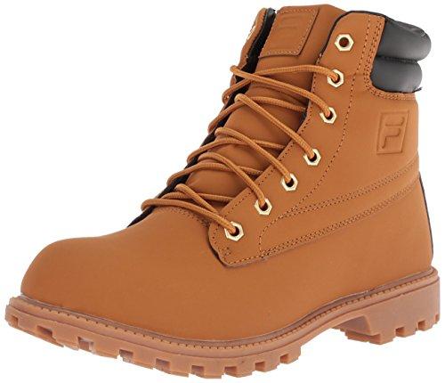Fila Men's WATERSEDGE 17 Hiking Boot, Wheat/Black/Gum, 10.5 Medium US