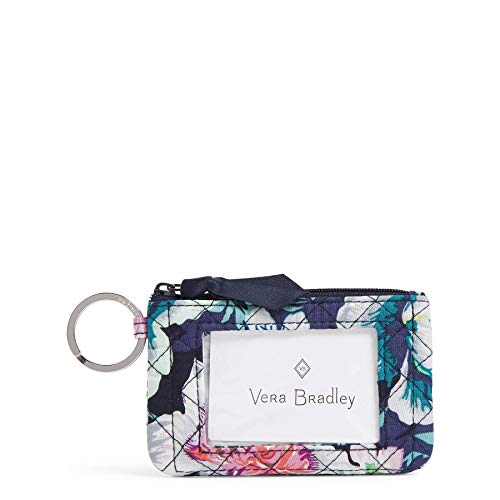 Vera Bradley Women's Wallet Signature Cotton Zip ID Case, Garden Grove, One Size