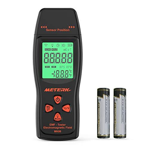 Meterk 電磁波測定器 EMF検出器 線量計 電磁場放射テスター EMFメーター ハンドヘルド ミニ デジタル LCD