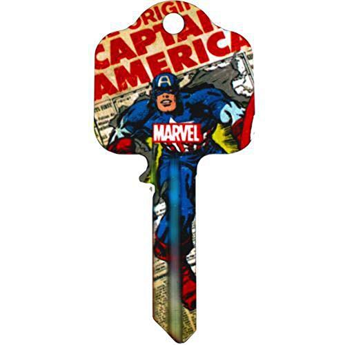 Marvel Comics Hausschlüssel – Captain America – UL2 passt zu 99% aller Türen
