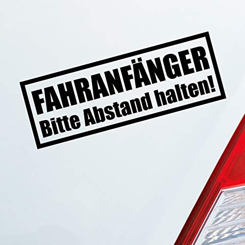 Auto Aufkleber in deiner Wunschfarbe Achtung Fahranfänger Spruch Fahrschule 20x7 cm Autoaufkleber Sticker Folie