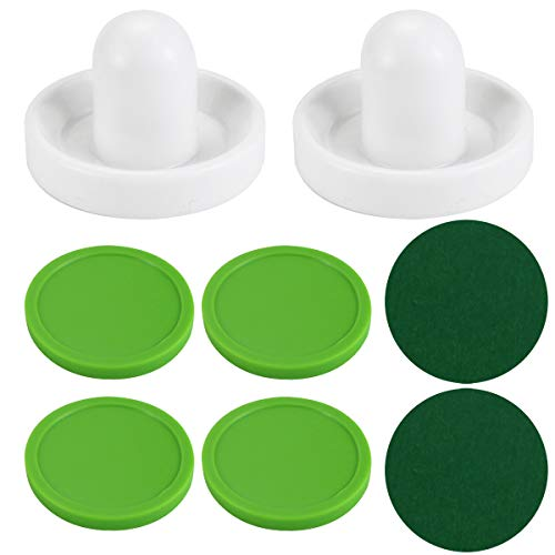 Wpxmer White Air Hockey Pushers and Extra Thick Pucks, Standard Size for Game Tables