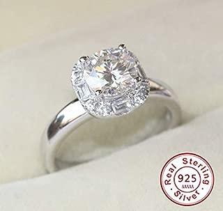 Nutchanan 2018 Original 925 Sterling Silver Wedding Rings for Women Square AAAAA Big 2 Carat CZ Diamant Engagement Rings Jewelry (6)