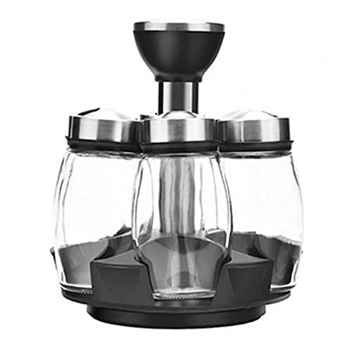 yqs Caja de Almacenamiento de Cocina 1 Set Spice Bottle Lightweight Strong Selling Durable Rotado Spice Shelf Rack para Regalos