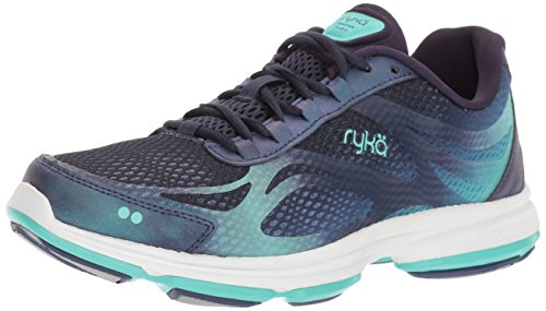 Ryka womens Devotion Plus 2 Walking Shoe, Navy/Teal, 9 US