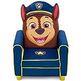 Delta Children Figural Upholstered Kids Chair, Nick Jr. PAW Patrol Chase, Blue
