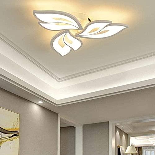 LED Deckenleuchte Dimmbar ,Wohnzimmerlampe mit Fernbedienung Lichtfarbe/Helligkeit Farbwechsel ,Schlafzimmer Deckenlampe moderne Deckenbeleuchtung Deckenbeleuchtung Kronleuchter Lampe,Dimming [Energie