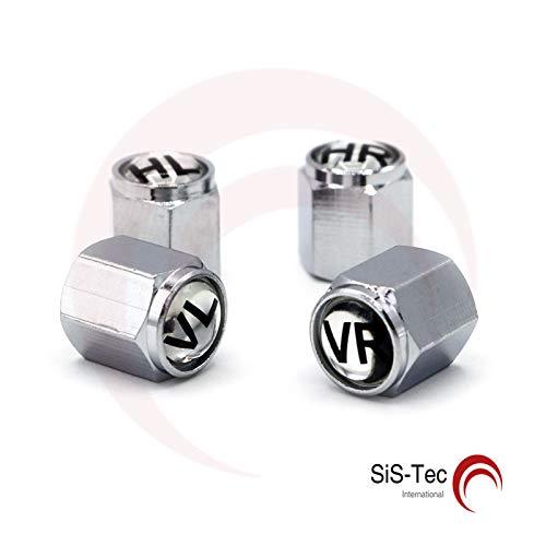 1 Set Ventilkappen+Dichtung für Reifenwechsel Reifenmarkierung - Silber Schwarz