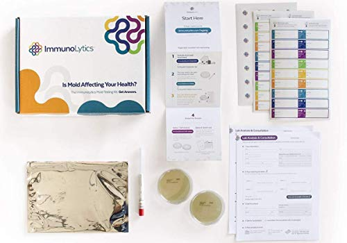 ImmunoLytics DIY Mold Test Kit - Easy to Use Professional Testing Kit - 5 Plate Individual Room Screening Package