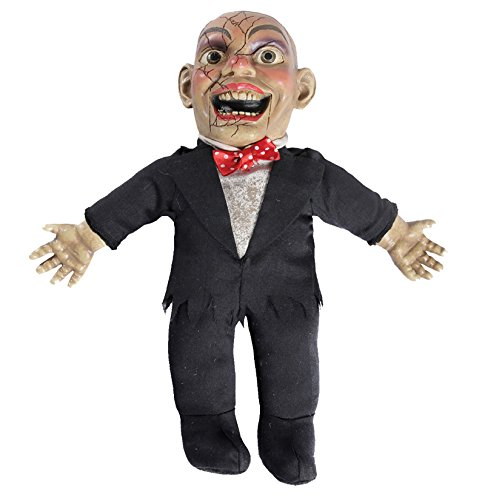 CTC Horror Deko Bauchredner Puppe Mister Marbles Halloween grusel Look spricht 3 Sätze
