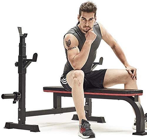 TAIDENG Banco de pesas ajustable de fuerza para entrenamiento de peso Banco de pesas ajustable para sentadillas, para el hogar, equipo de fitness, equipo de entrenamiento de pesas (color: negro)