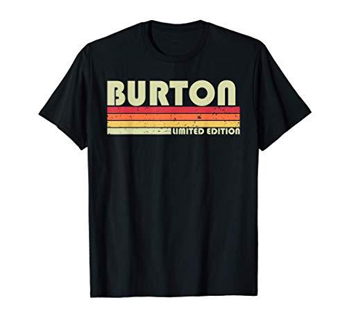 BURTON Gift Name Personalized Funny Retro Vintage Birthday T-Shirt