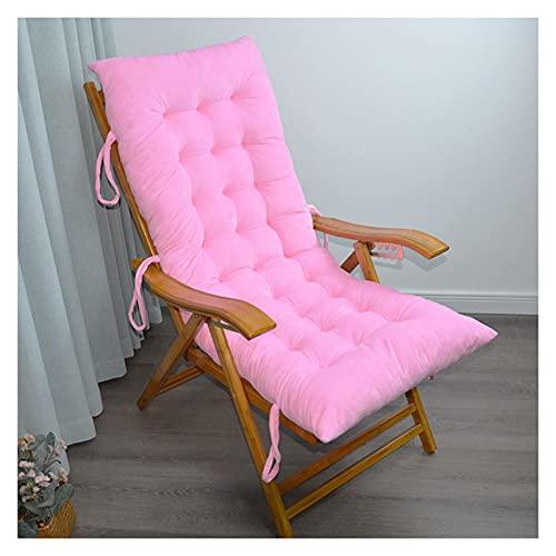 ZCXBHD Cojín Silla Salón Patio Cojines Interior Exterior Chaise Lounge Cojín Silla Mecedora para Jardín Colchón para Silla Gravedad Cero(No Incluye Sillas) (Color : Pink, Size : 125 * 48cm)