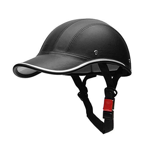 Verloco Baseball-pet voor paardrijden, scooter, motorfiets, fiets, hoeden, elegant, voor mannen en vrouwen, met verstelbare kingespen voor botsing, sport, paardrijden, PU + ABS