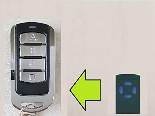 Handsender kompatibel mit Hörmann mit hellblauen Tasten: HSM 4, HSM4, HS(M) 2/4, HS 4, HSP 4, HSM 2, HS 2, HS 4, HS 1, HSE 2, HS4, HSP4, HSM2, HS2, HS4, HS1, HSE2-868,3 MHz Fernbedienung