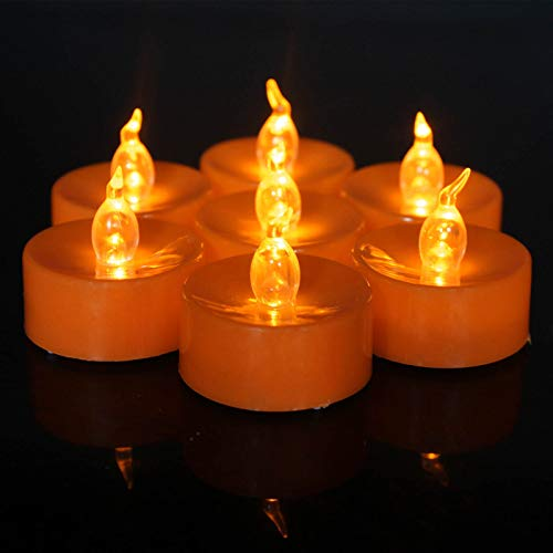 ICECON Flameless Candle Lights, 120 Pack Tea Lights Candles Battery Operated Realistic And Bright Led Tea Lights Perfect for Valentines Day Birthday Decoration