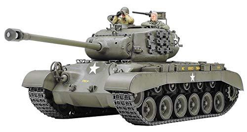 Tamiya 300035254 - Carro Armato Militare Americano da Combattimento della seconda Guerra Mondiale M26 Pershing T26E3 (2) Realizzato in Scala 1:35