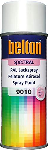 belton spectRAL Lackspray RAL 9010 reinweiß, glänzend, 400 ml - Profi-Qualität