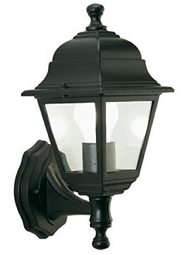 Lanterna A Parete Montante Struttura In Alluminio Pressofuso. Verniciata Nera. Dimensioni: Cm 15X20Xh33.
