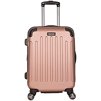 Kenneth Cole Reaction Renegade 20  ABS Expandable 8-Wheel Carry-On Rose Gold inch