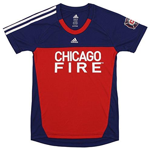 adidas MLS Mädchen Chicago Fire Torwart Mädchen Performance, Mädchen, Chicago Fire, Large (14)