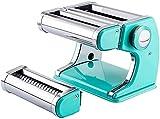 GAOJINXIURZ Máquina de pasta, máquina de fideos con fettucini espaguetis, máquina para hacer pasta Ravioli, máquina de rodillo de pasta de acero inoxidable (color verde)