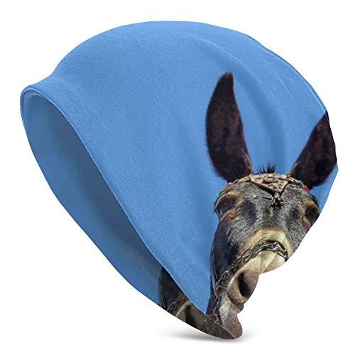 Unisex Soft Beanie Cap Hintergründe Kopf-Ohren Esel Maulkorb Slouchy Chemo Hat Turban Cozy Skull Cap Lightweight Stretch Sleep Hat für Herren Damen