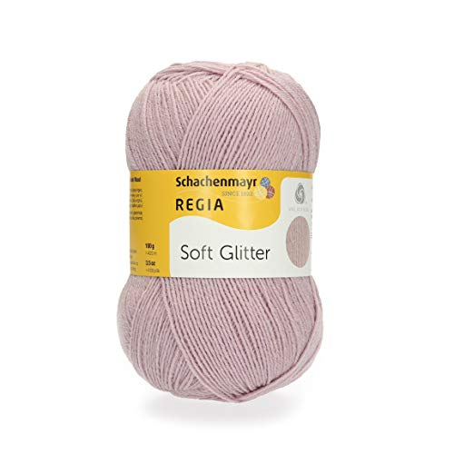 Schachenmayr REGIA Handstrickgarne Soft Glitter, 100G Dusky Pink