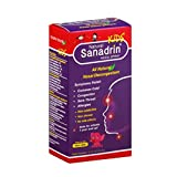 Sanadrin Children Cold & Flu - Helps Drain and Eliminate Virus - Cough - Sinus - Mucus - Congestion - Sore Throat - Respiratory - Boost The Immune System - 120 Sprays - flu Medicine, Made in USA