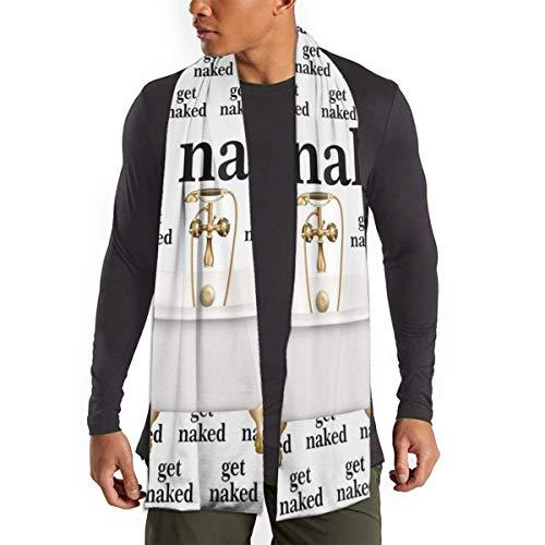 JONINOT Holen Sie sich Zitat Worte mit Badewanne Schal für Frauen Männer Leichte Unisex Frühling Herbst Winter Schals Schal Wraps
