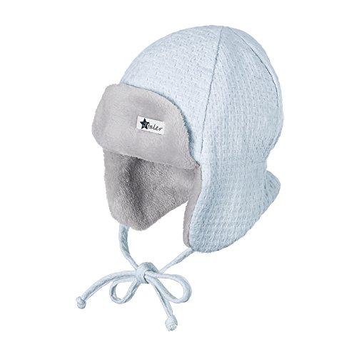 Sterntaler Fliegermütze für Jungen mit Bindebändern, Alter: ab 6-9 Monate, Größe: 45, Blau (Himmel)