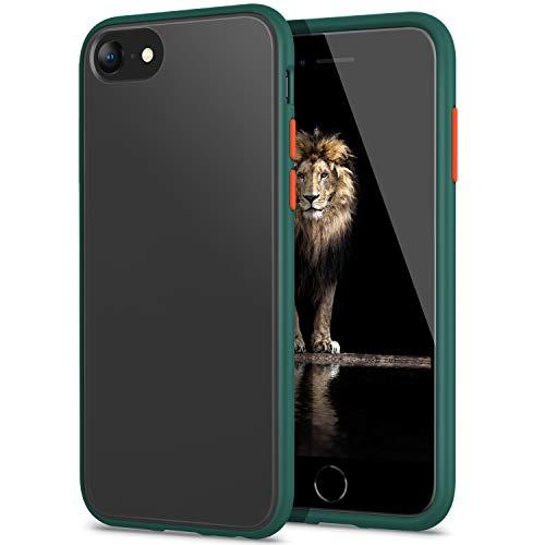 YATWIN Serie Antiurto, Compatibile per Cover iPhone SE 2020, Custodia per iPhone 7 e iPhone 8 Cover Antiurto Policarbonato e TPU, Anti-Graffio, Anche Compatibile con iPhone 7/8 4.7', Verde Pino