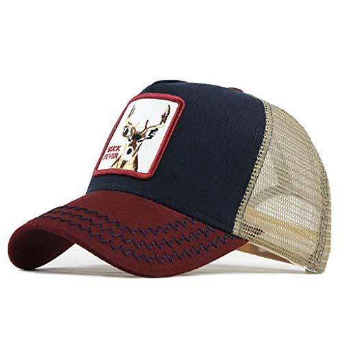 Moda Media Malla Transpirable Gorra Deportiva Unisex, Animal Embroidered Cómoda Tela Elástica...