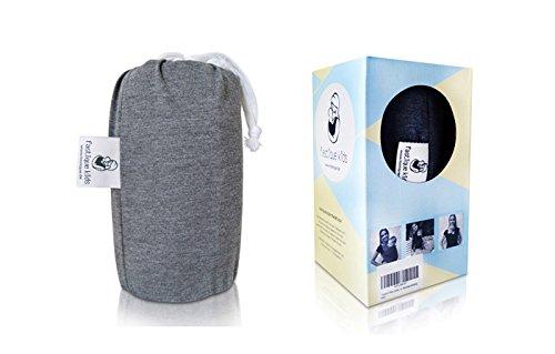 Fastique Kids® Babytragetuch – elastisches Tragetuch für Früh- und Neugeborene Kleinkinder – inkl. Baby Wrap Carrier Anleitung – Farbe grau - 7