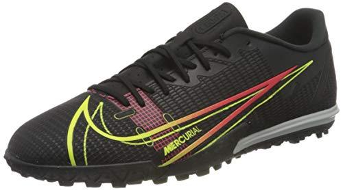 Nike Vapor 14 Academy TF, Scarpe da Calcio Unisex-Adulto, Black/Cyber-off Noir-Rage Green-Siren Red, 44 EU
