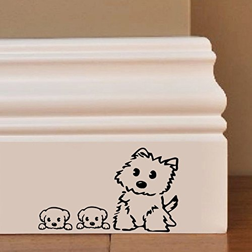 Cut Puppies Mum Wall Art Autocollant Decal Mice Home Skirting Board Drôle by Inspired Walls®