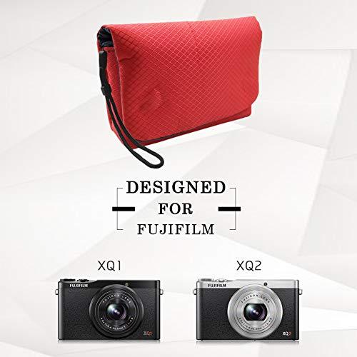 Fuji XQ2 Hülle, MUZIRI KINOKOO Nylon Material Tasche für Fujifilm XQ1 / XQ2 Schutztasche Ultraleichte Tasche(Rosa)