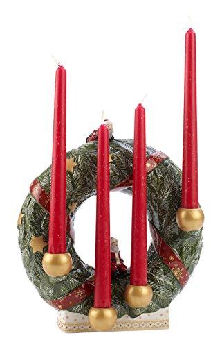 Villeroy & Boch 1486029414 Christmas Toys Memory Ghirlanda Avvento Tavolo, Verde, 26 cm
