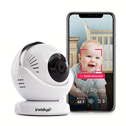 invidyo - WiFi Baby Monitor with Live Video and Audio | Cry Detection & Stranger Alerts | 1080P Full...