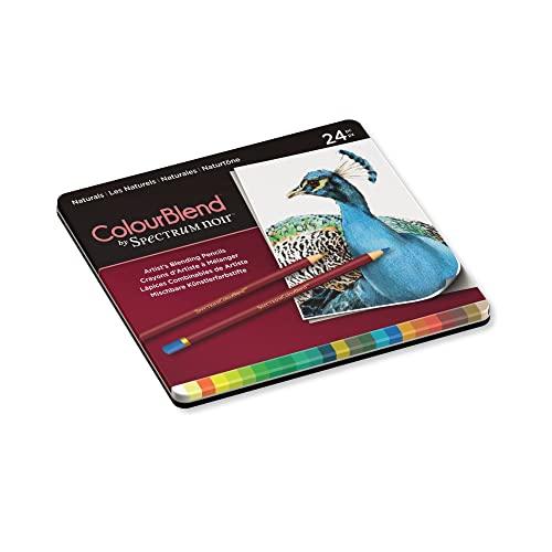 Spectrum Noir Jeu de 24 Crayons de Couleur Blend, 0, Naturals, 19.5 x 23.2 x 1.5 cm