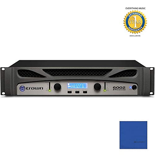 Check Out This Crown XTi6002 2-channel, 2100W @ 4Ω Power Amplifier with Microfiber and 1 Year Ever...
