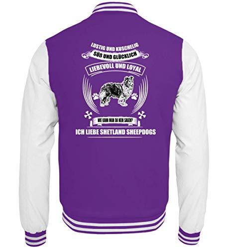 Shirtee Shetland Sheepdog T, Hoodie u.A - College Sweatjacke