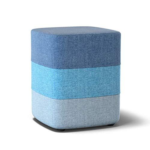 HGMMY Taburete de Esponja, Tela Transpirable, para Colocar en la habitación, sofá, reposapiés, para niños, Adultos, Lectura de taburetes pequeños para niños (Color: Azul, tamaño: 33 35 cm)