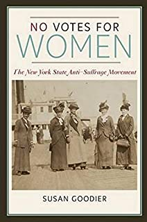 book cover image with black and white photo of women marchers in New York