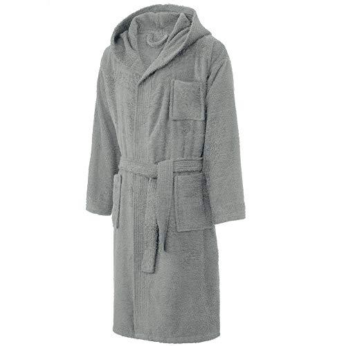 CelinaTex Borkum heren badjas met capuchon katoen huismantel badstof ochtendjas maat S - XXL