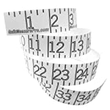 Quik Measure Pro - 72' Boat Ruler Sticker & Measuring Decal - Self Adhesive Fishing Tape Measure - Transparent Decal for Easy Lengths - Waterproof - Made in USA - Clear Design Stays Discreet - 72 Inch