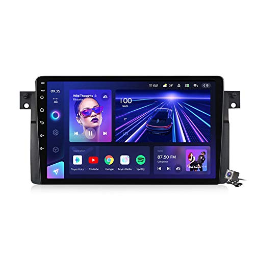 Android 10 MP5 Player GPS Navegación para BMW 3-Series E46 1998-2006, Soporte WiFi 5G DSP/FM RDS Radio de Coche Estéreo/BT Hands-Free Calls/Control del Volante/Carplay Android Auto,7862: 6+128gb