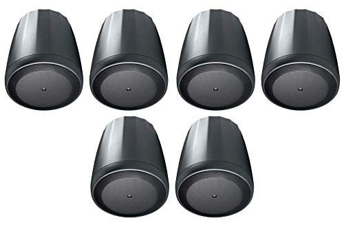 "(6) JBL Control 65 P/T 5.25"" 60w Black Pendant Speakers For Restaurant/Bar/Cafe"