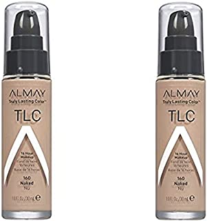 Almay TLC Truly Lasting Color 16 Hour Makeup, Naked 03 [160] 1 oz (Pack of 2)